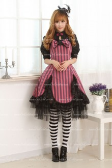 Violet and Black Big Bowknot Sweet Lolita Dress