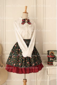 Santa Claus Printed Original Vintage Fairy Sweet Lolita Skirt