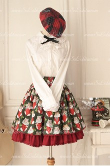 Cute Cate Printed Original Retro Fairy Lolita Skirt
