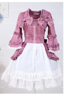 Violet Flared Sleeves Chiffon Princess Palace Splicing Sweet Lolita Dress