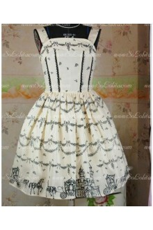 Light Yellow Snow Castle Chiffon and Taffeta Straps Sweet Lolita Dress