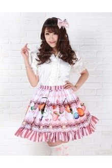 Lovely Light Purple and Fruit Sweet Princess Lolita Skirt