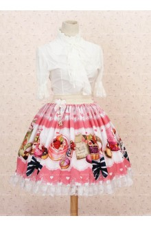 Lovely Pink Lace Ruffles Lolita Skirt