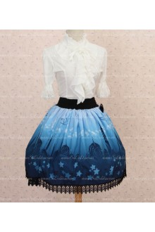 Sweet Princess Blue Moon Castle Lace Lolita Skirt
