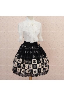 Sweet Princess Alice Chess Black Lattice Skirt Lolita Skirt