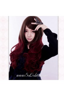 Punk Cute Red Wine Lolita Wig