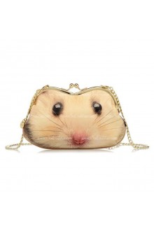 Lolita Diagonal Chain Lovely Little Hamster Sweet Clutch