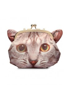 Lolita Sweet Cat Printed Zipper Crossbody  Bag