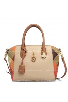 Lolita Lingge Fashion Beige Splicing Bag