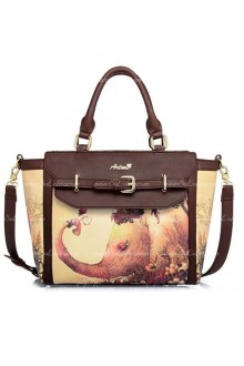 Lolita Vintage Fashion Lovely and Sweet Little Elephant Print Bag