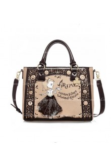 Lolita Hollow Lace Lovely Retro Print Bag