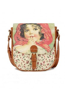 Lolita Lovely Brown Floral Vintage Bag