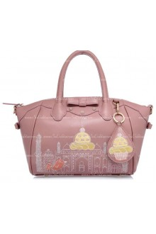 Lolita Wistaria Colored Smile Lovely Bow Embroidery Multifunction Lolita Bags