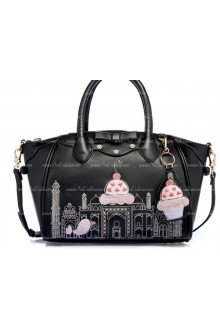 Lolita Black Smile Lovely Bow Embroidery Multifunction Lolita Bags