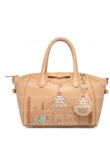 Lolita Apricot Smile Lovely Bow Embroidery Multifunction Lolita Bags