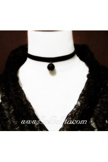 Punk Black Ribbon Vintage Lolita Necklace