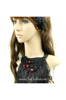 Gorgeous Lace Black Fringed Lolita Necklace