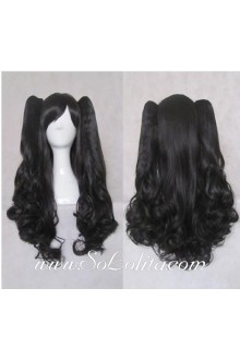 Lolita Wig Curl Sweet Black Medium