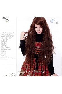 Brown Long Cute Roleplay Lolita Wig