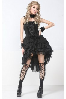 Black Lace Ribbon Bow GLP Lolita Dresses