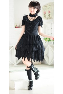 Chiffon Slim Irregular With Collar GLP Lolita Dresses