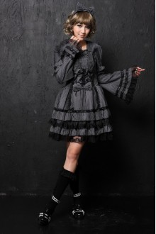 Princess Bow Flounced Detachable Sleeves GLP Lolita Dresses