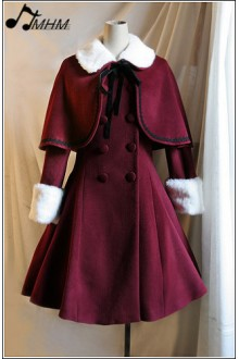 Woollen Double-breasted Long Skirt Lolita Coat & Shawl