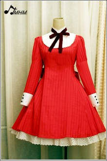 APH Red Dark Lines HMHM Lolita Dresses