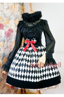 Illusion Realizer Diamond Fishbone High Waist Surface Spell Gothic Lolita Half Dress SK