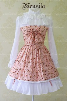 Sweet Cotton Garden Floral Bow Mousita Lolita Dress