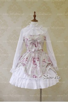 Sweet Chiffon Vitoria Rose Bow False Two Mousita Lolita Dress