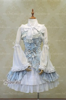 Sweet Chiffon Vitoria Rose Bow Mousita Lolita Dress