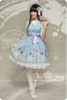 Sweet Chiffon Fairy in the Air Chiffon Chess Story Lolita JSK Dress