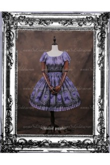 Sweet Butterfly Dance Chiffon Butterfly Sleeve Classical Puppets Lolita Dress