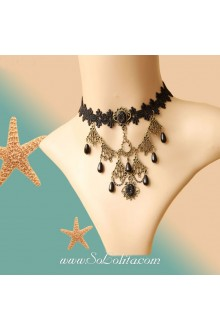 Lolita Dark Queen Vintage Lady Belly Dance Necklace