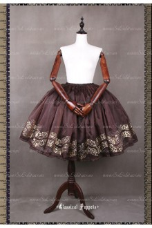 Sweet Steam Band Gilt Silver Classical Puppets Lolita Petticoat