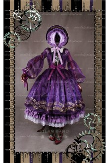 Sweet Steam Band Gilt Silver Classical Puppets Lolita Overskirt