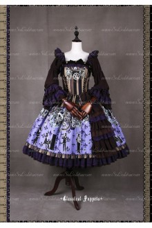 Sweet Steam Band Long Sleeves Classical Puppets Lolita Dress OP