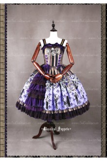 Sweet Steam Band Strap Classical Puppets Lolita Dress JSK