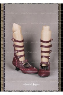 Sweet Steam Band Cingulum Classical Puppets Lolita Boots