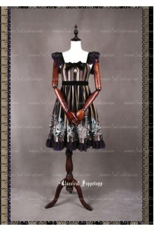 Sweet Steam Band Mini Strapless Classical Puppets Lolita Dress Mini JSK