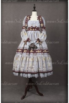 Chiffon Royal Carousel Long Sleeve Luxury Classical Puppets Lolita Dress