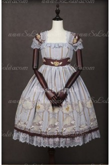 Chiffon Royal Carousel Sleeveless Lace Luxury Classical Puppets Lolita JSK Vest Dress