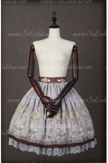 Chiffon Royal Carousel Lace Classical Puppets Lolita SK Bust Skirt