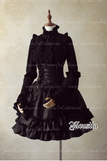 Sweet Cotton Gothic Multilayer Mousita Lolita Bust Skirt