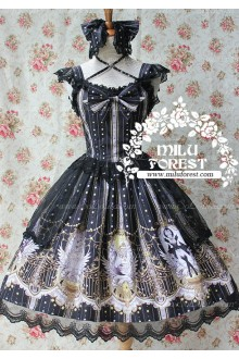 Sweet Black Swan Lake Anastasia Milu Forest JSK Lolita Dress