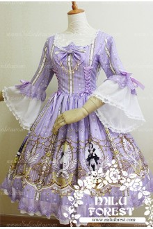 Sweet Purple Swan Lake Anastasia Milu Forest JSK Lolita Dress