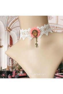 Lolita Lace Little Mermaid White Floral Necklace