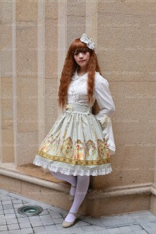 Sweet Cotten Original Print Souffle Song Lolita Dress