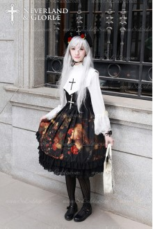 Sweet Choosing Flower Girl Souffle Song Lolita False Collar